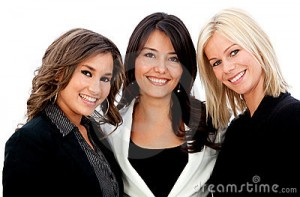 Three Smiling Business Women